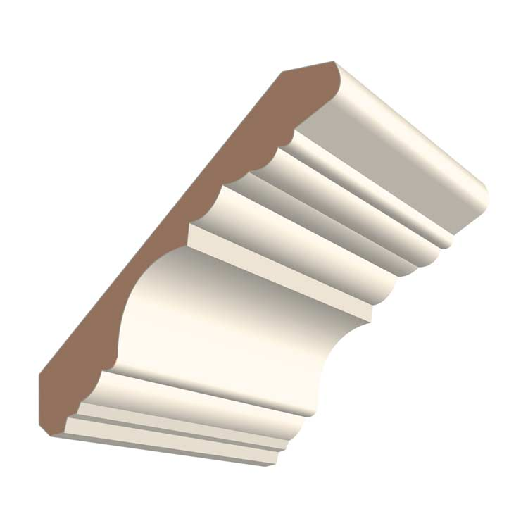 4-1/2in 412MUL MDF Georgian Crown Moulding