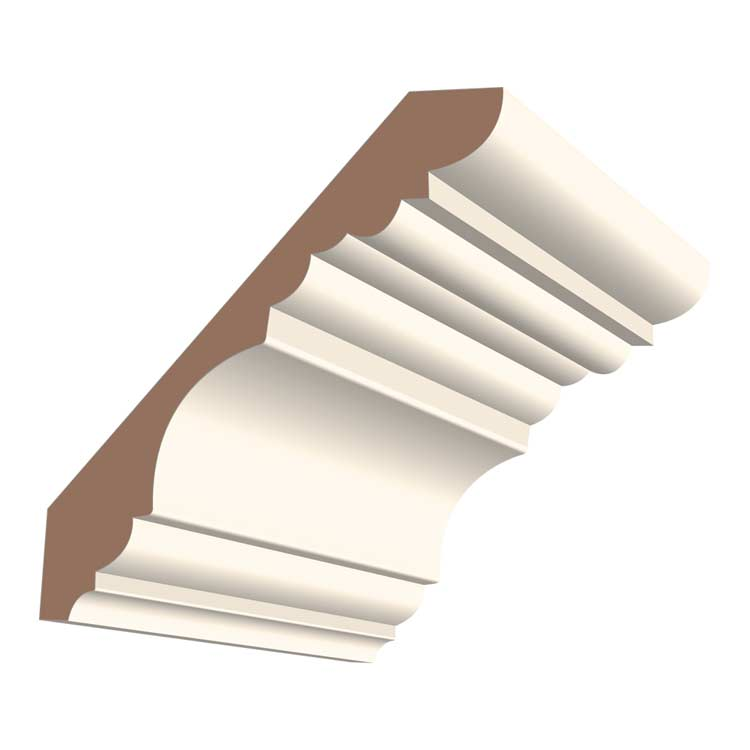 6-1/2in 427MUL MDF Georgian Crown Moulding