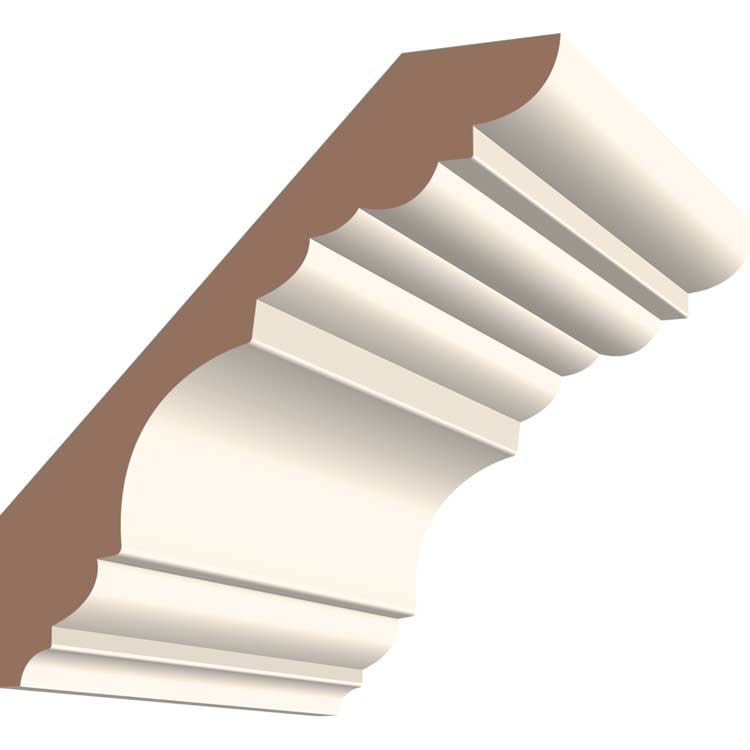 8in 428MUL MDF Georgian Crown Moulding