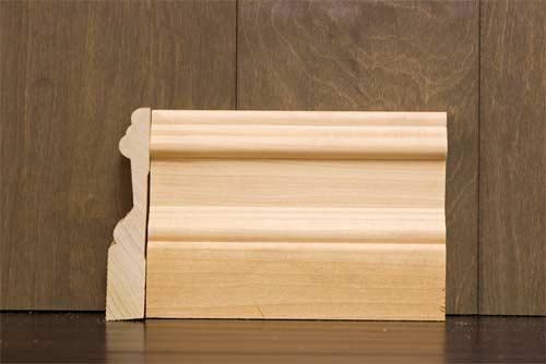 4-1/4 inch B2 Crescent Baseboard Poplar