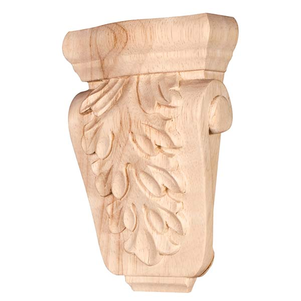 3-5/8 In Acanthus Wood Corbel