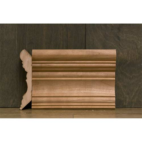 4-3/8 In CR-2 Georgian Crown Moulding Cherry