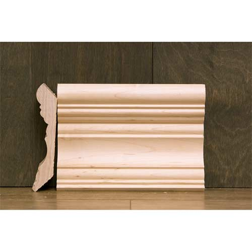 4-3/8 In CR-2 Georgian Crown Moulding Maple