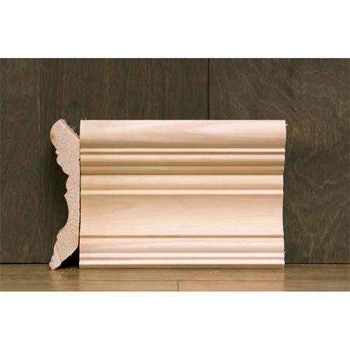 4-3/8 in CR-2 Georgian Crown Moulding Poplar