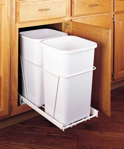 35 Qt Double Bin Trash Can Pull Out Rev A Shelf
