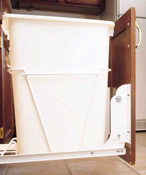 Single Bin Trash Can Door Mounting Kit