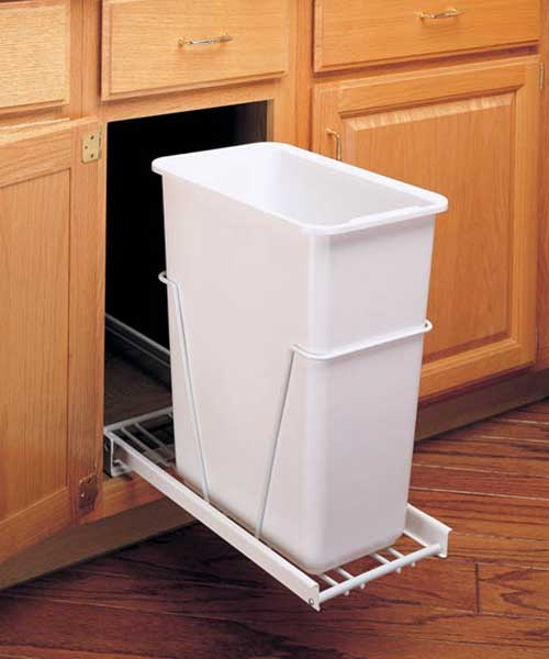 35 QT Single Bin Trash Can Pull Out