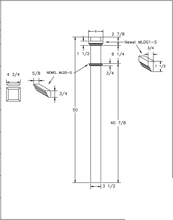 LJ-4075-50 Box Newel PDF Drawing