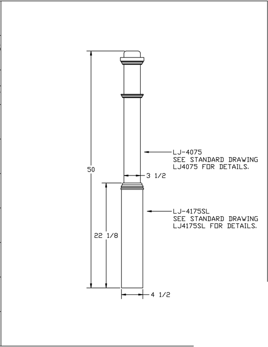 LJ-4175-50 Sleeve Box Newel PDF Drawing