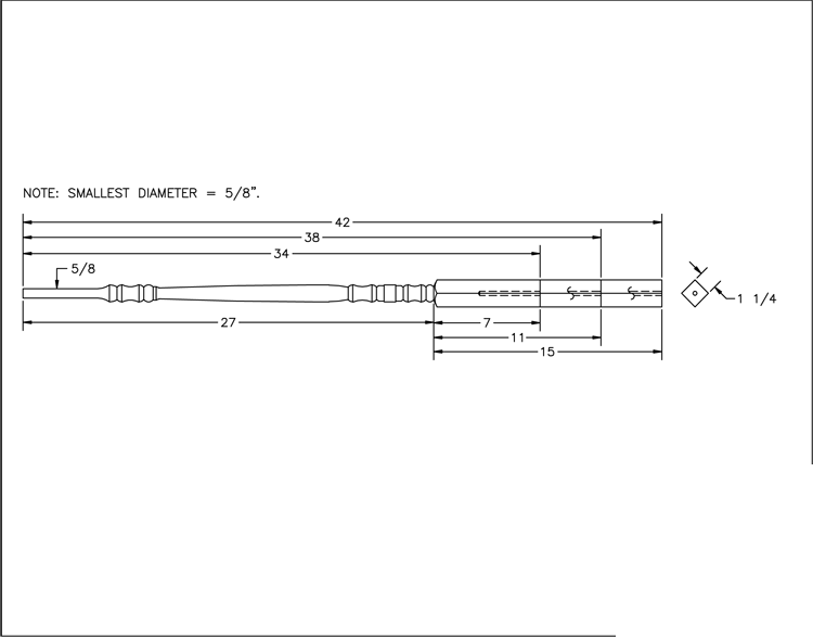 LJ-5200 Pin Top Baluster PDF Drawings