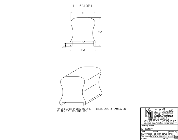 LJ-6A10P1 Plowed Handrail PDF Drawing