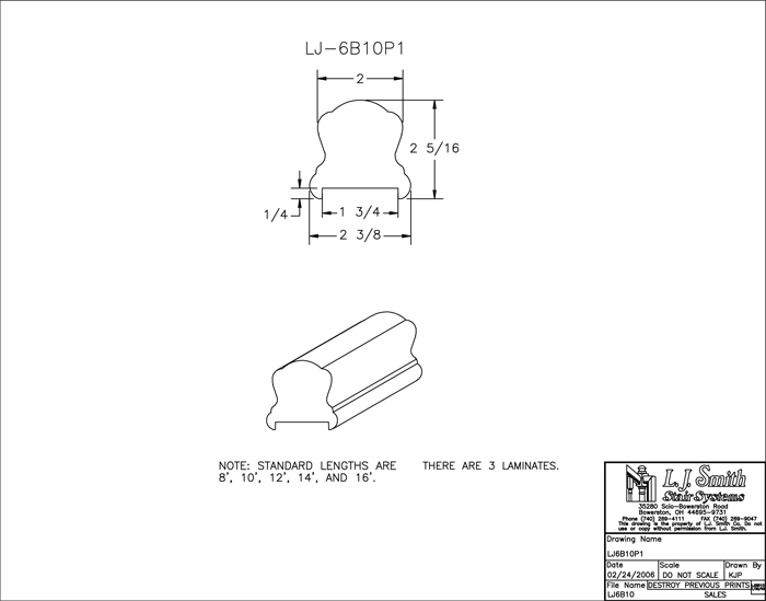 LJ-6B10P1 Plowed Handrail PDF Drawings
