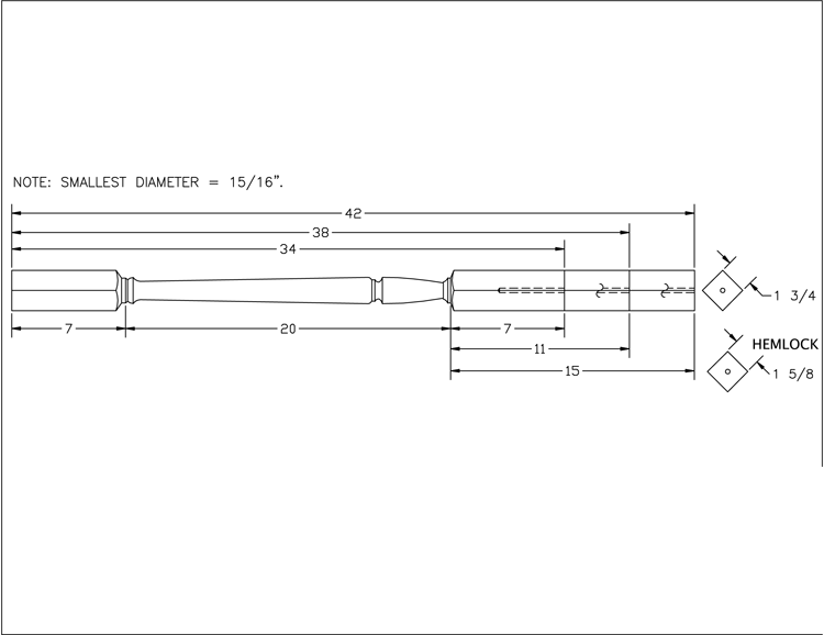LJP-2005 Square Top Baluster PDF Drawing
