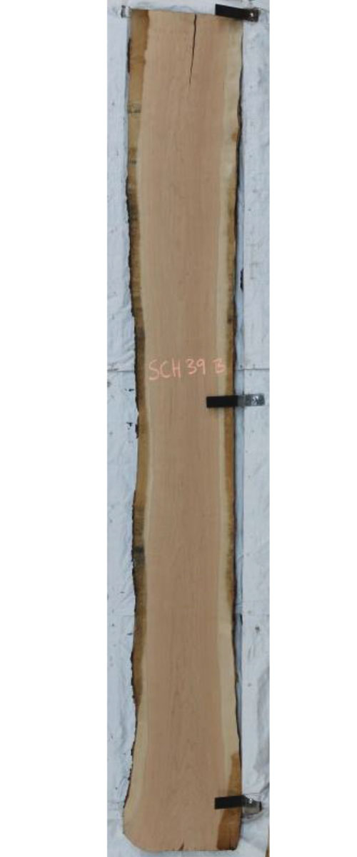Backside Cherry Live Edge Wood Slab Sch-39