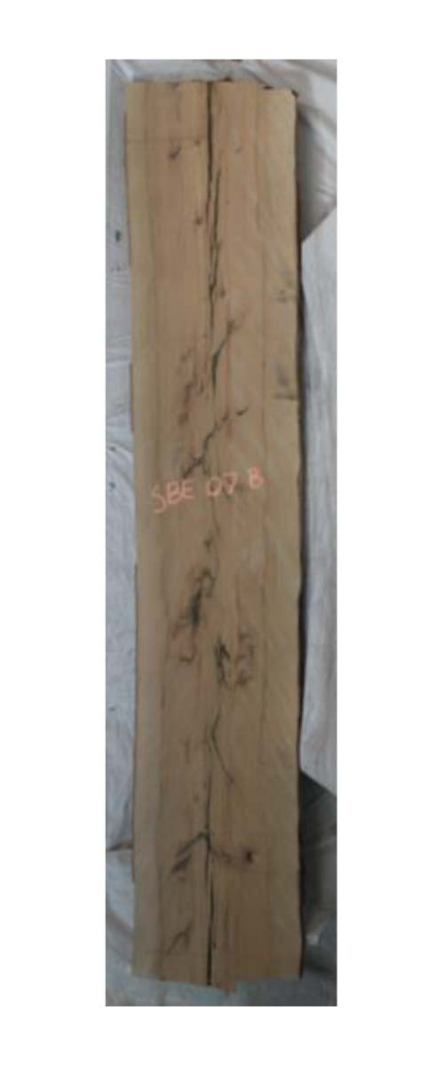 Backside Beech Live Edge Slab Sbe-07