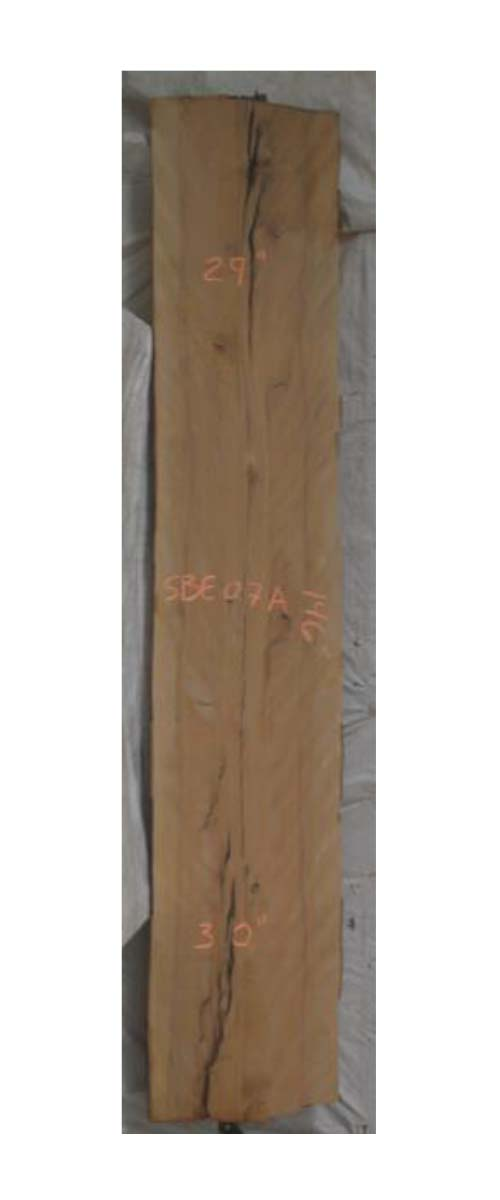 Front Beech Live Edge Slab Sbe-07