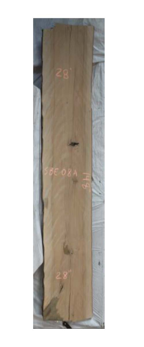 Front Beech Live Edge Slab Sbe-08