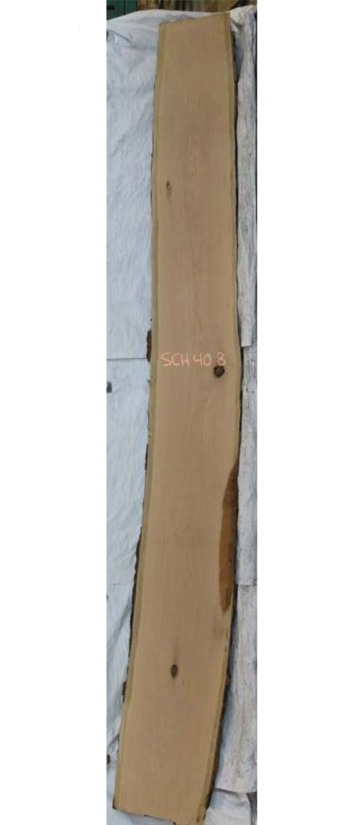 Backside Cherry Live Edge Wood Slab Sch-40