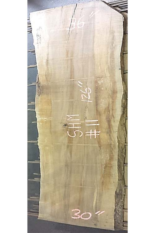 Hard Maple Live Edge Wood Slab shm-11