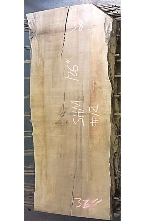 Hard Maple Live Edge Wood Slab Shm-12