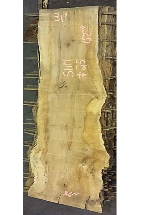 Hard Maple Live Edge Wood Slab shm-25