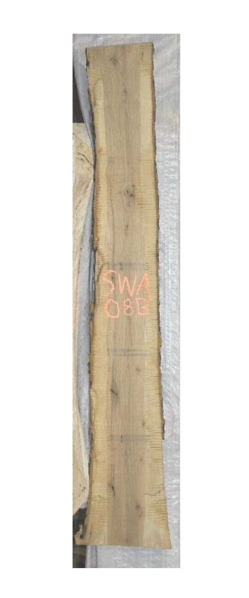 Backside White Ash Live Edge Wood Slab Swa-08