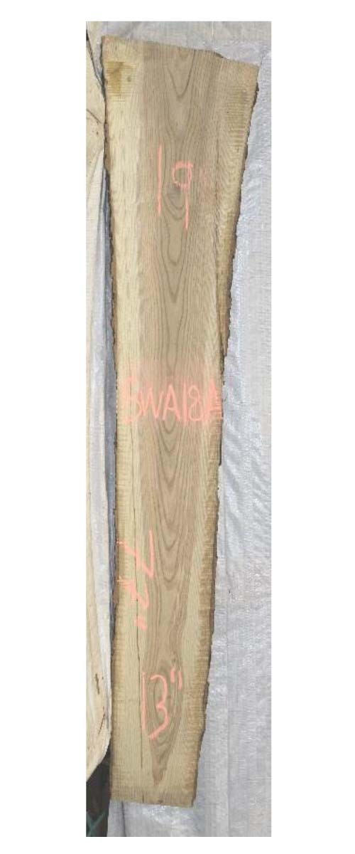 Front White Ash Live Edge Wood Slab Swa-18