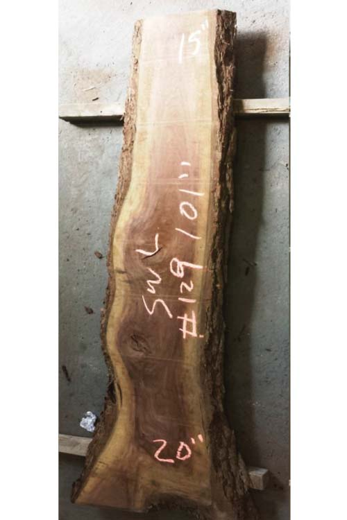 Walnut Live Edge Wood Slab swl-129