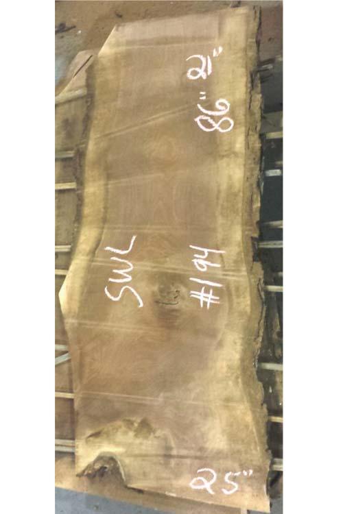 Walnut Live Edge Wood Slab Swl-194