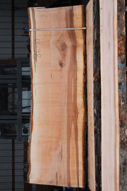Hard Maple live edge slab 86-10