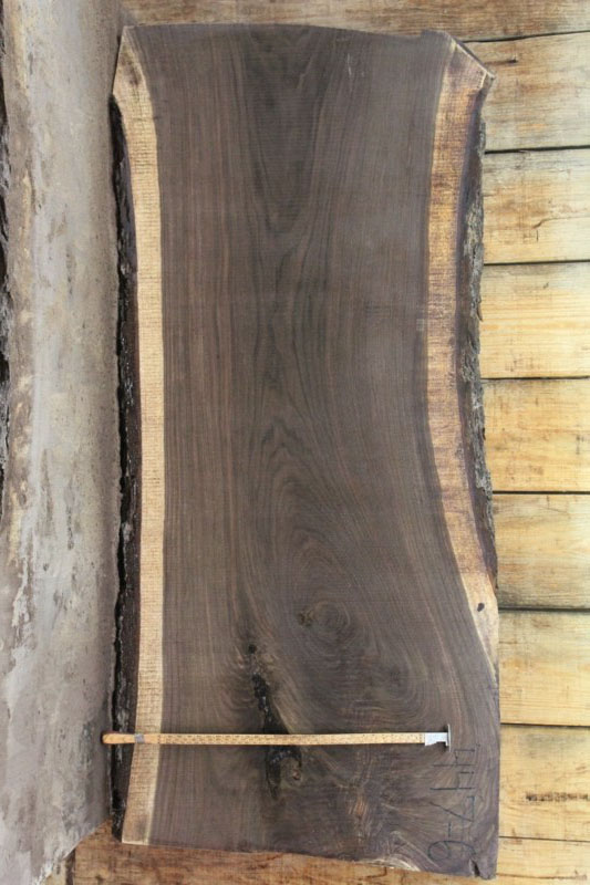 Walnut Live Edge Slab 447-6
