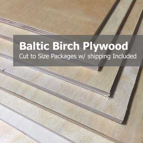 Baltic Birch Plywood Lumber Project Packs Woodworking Supplies